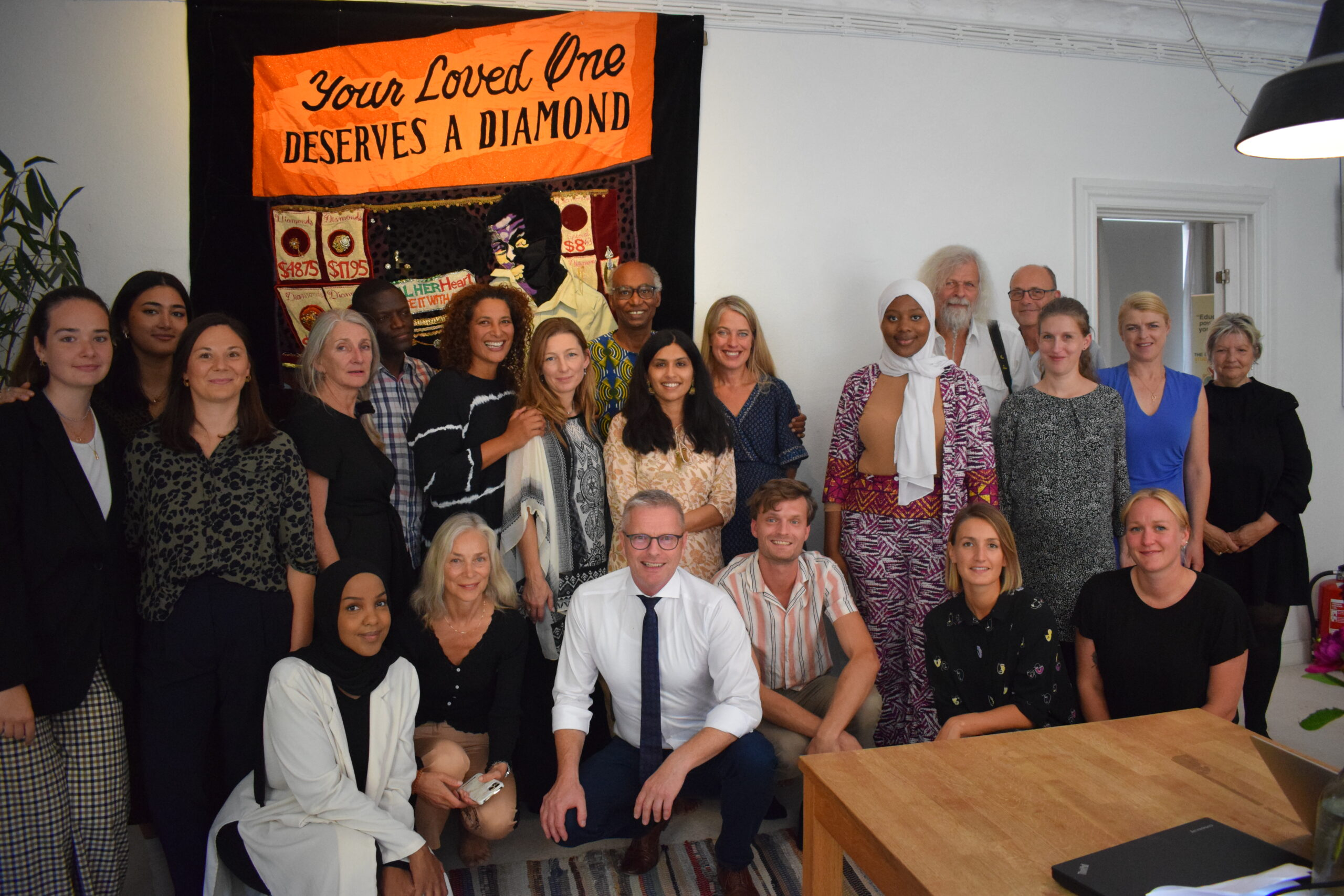 What did the Danish Minister of Development do at the Ubuntu House?